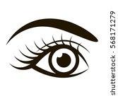 female eye isolated on white | Shutterstock .eps vector #568171279