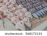salted fish is a dry food in... | Shutterstock . vector #568172131