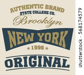 new york  typography fashion  t ... | Shutterstock .eps vector #568174579