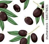 seamless olive pattern. tile... | Shutterstock .eps vector #568178821