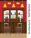 interior of pub  for drinking... | Shutterstock .eps vector #568186264