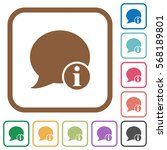 blog comment info simple icons... | Shutterstock .eps vector #568189801