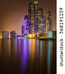 view of abu dhabi skyline at... | Shutterstock . vector #568191259