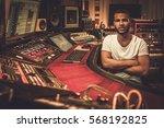 african american sound engineer ...   Shutterstock . vector #568192825