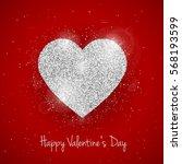 vector happy valentine's day... | Shutterstock .eps vector #568193599