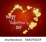 vector happy valentine's day...   Shutterstock .eps vector #568193629