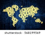 cryptocurrency  blockchain and... | Shutterstock . vector #568199569