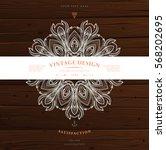 vintage frame for luxury logos  ... | Shutterstock .eps vector #568202695