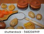 still life. harvest of variety... | Shutterstock . vector #568206949