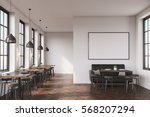 cafe interior with a large sofa ... | Shutterstock . vector #568207294