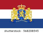 flag of netherlands or kingdom... | Shutterstock .eps vector #568208545