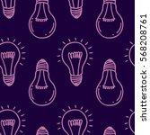 lamp light bulb hand drawn... | Shutterstock .eps vector #568208761
