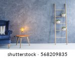 interior with armchair  copper... | Shutterstock . vector #568209835