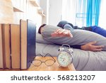 time to wake up. tired man in... | Shutterstock . vector #568213207