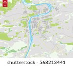 vector color map of  prague ... | Shutterstock .eps vector #568213441