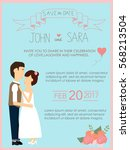 wedding invitation cards with... | Shutterstock .eps vector #568213504