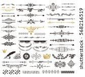 vector set of calligraphic... | Shutterstock .eps vector #568216519