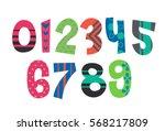 designer alphabet numbers | Shutterstock .eps vector #568217809