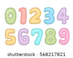 baby care alphabet numbers | Shutterstock .eps vector #568217821