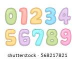 baby care alphabet numbers | Shutterstock .eps vector #568217821