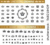 vector heraldic elements design....   Shutterstock .eps vector #568218439