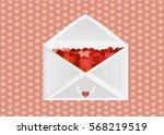 open envelope completed red... | Shutterstock .eps vector #568219519