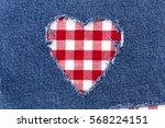 Decorative Ripped Denim  Heart...