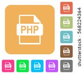 php file format flat icons on... | Shutterstock .eps vector #568224364