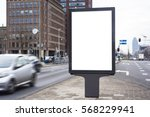 outdoor kiosk advertising mockup   Shutterstock . vector #568229941