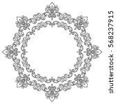 oriental vector round black and ... | Shutterstock .eps vector #568237915