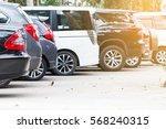 car parked neatly inside an... | Shutterstock . vector #568240315