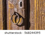Foreground Of Old Wooden Door