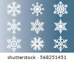 snowflake vector icon... | Shutterstock .eps vector #568251451