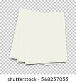 blank sheets of paper on... | Shutterstock .eps vector #568257055