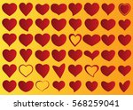 red heart vector icon... | Shutterstock .eps vector #568259041
