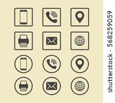 business card icon set. web... | Shutterstock .eps vector #568259059