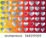 silver heart vector icon... | Shutterstock .eps vector #568259305