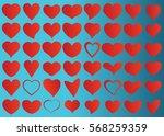 red heart vector icon... | Shutterstock .eps vector #568259359