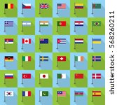 flag country icon vector... | Shutterstock .eps vector #568260211