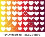 white heart vector icon... | Shutterstock .eps vector #568264891
