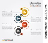 infographic design template... | Shutterstock .eps vector #568271695