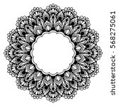 mandalas for coloring book.... | Shutterstock .eps vector #568275061
