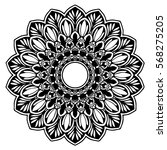 mandalas for coloring book.... | Shutterstock .eps vector #568275205