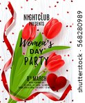 poster for women's day party.... | Shutterstock .eps vector #568280989
