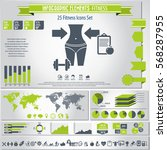 fitness   infographics elements ... | Shutterstock .eps vector #568287955
