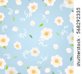 flowers background with... | Shutterstock .eps vector #568292335