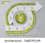 abstract 10 steps infographis... | Shutterstock .eps vector #568295149
