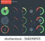 flat infographic elements.... | Shutterstock .eps vector #568298935