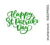 st. patrick's day lettering.... | Shutterstock .eps vector #568299001