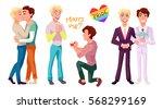 gay couple concept... | Shutterstock .eps vector #568299169